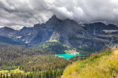 MT-Glacier National Park-Grinnell Glacier trail. This image was captured on the steep and spectacular Grinnell Glacier Trail stock photos