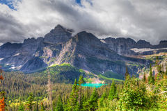 MT-Glacier National Park-Grinnell Glacier trail. This image was captured on the steep and spectacular Grinnell Glacier Trail royalty free stock images
