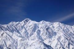 Mt. Goryudake, Nagano Japan. Mt. Goryudake, snow covered mountain in nagano japan Stock Photo