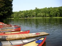 Mt. Gretna Canoes Royalty Free Stock Photo