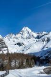 Mt Grossglockner nell'inverno Immagini Stock