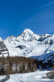 Mt Grossglockner w zimie Obrazy Stock