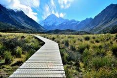 Mt-Haken-Nationalpark, Neuseeland Lizenzfreies Stockfoto