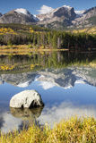 Mt. Hallet. Reflects in Sprague Lake at Rocky Mountain National Park Royalty Free Stock Photos