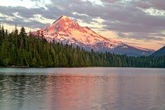 Mt Haube von verlorenem See Stockfotografie