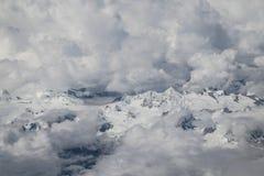 MT het meest everest genomen uit het vliegtuig in Nepal Stock Foto's