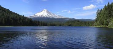 Mt. het panorama van de kap & van het meer Trillium, Oregon. Royalty-vrije Stock Afbeeldingen