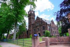 Mt Holyoke学院校园入口 库存照片