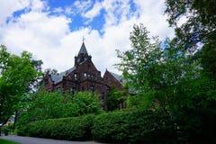 Mt Holyoke学院校园风景 免版税库存图片
