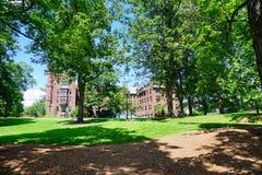 Mt Holyoke学院校园风景 图库摄影