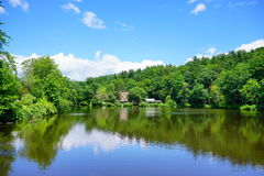 Mt Holyoke College campus landscape Royalty Free Stock Image