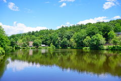 Mt Holyoke College campus landscape Stock Photography