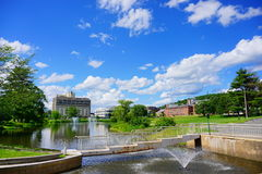 Mt Holyoke College. Mount Holyoke College campus landscape. Mount Holyoke College is a liberal arts college for women in South Hadley, Massachusetts, United Stock Photo