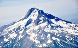 Mt hood. Mount hood captured from the sky royalty free stock images