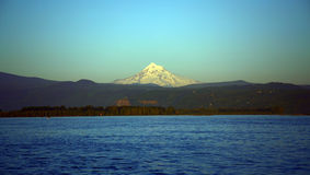 Mt. Hood. And Columbia River in Oregon Stock Images