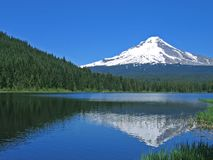 Mt. Hood above Trillium Lake Stock Image