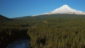 Mt Hood Aerial stock footage