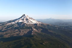 Mt. Hood. Aerial view of Mount Hood in the Cascades range royalty free stock photography