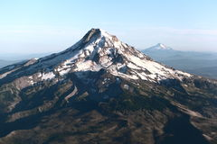 Mt. Hood. Aerial view of Mount Hood in the Cascades range stock photo