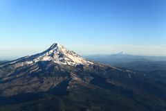 Mt. Hood. Aerial view of Mount Hood in the Cascades range Stock Image