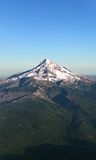 Mt. Hood. Aerial view of Mount Hood in the Cascades range stock photography