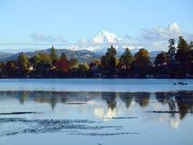 Mt. Hood And Blue Lake Park, Oregon. Stock Photo