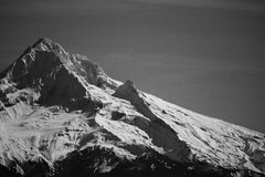 Mt Hood in Black and White Royalty Free Stock Photography