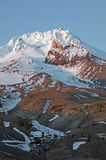 Mt Hood close up. Late summer Close up of Mount Hood Oregon beneath a crisp clear blue sky stock photography