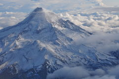 Mt. Hood with Clouds Royalty Free Stock Photography