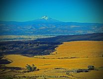 Mt Hood And The Dalles Mt Fire, The Summer Of 2015. This is a cool Photo of wt was left after a Huge Grass Fire after it tore through the country side, with Mt Stock Photography