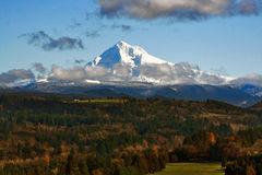 Mt. Hood in the Fall Royalty Free Stock Photo