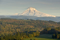 Mt. Hood from Jonsrud Viewpoint Sandy Oregon. Stock Photography