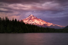 Mt Hood, from Lost lake oregon stock image