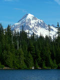 Mt. Hood, Lost Lake. Mt. Hood towers over Lost Lake in northern Oregon Stock Image