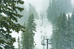 Mt. Hood Meadows Ski Lift stock images