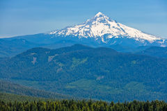 Mt. Hood, Oregon. A photo of the snow covered Mt. Hood in Oregon stock images