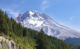 Mt. Hood Oregon in Summer. Mt. Hood, Oregon, with very little snow royalty free stock photography