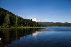 Mt Hood Reflection Trillium Lake Images libres de droits
