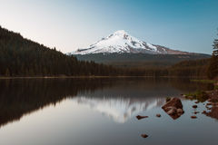 Mt Hood Reflection at Trillium Lake Stock Images