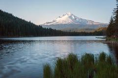 Mt Hood Reflection at Trillium Lake Stock Image