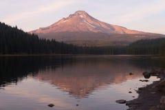 Mt Hood Smooth Reflection Trillium Lake Oregon Territory Stock Photos