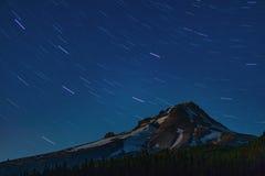Mt. Hood Star Rotation Royalty Free Stock Photos