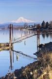 Mt. Hood and marine drive Portland Oregon. Stock Image