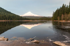 Mt.Hood and Trillium lake Stock Photography
