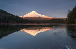 Mt.Hood and Trillium lake stock photo