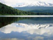 MT.HOOD UND TRILLIUM-SEE Stockbild