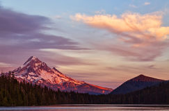 Mt Hood at unset Royalty Free Stock Photography