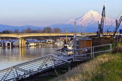 Mt. Hood and urban surroundings Portland OR. Royalty Free Stock Photography
