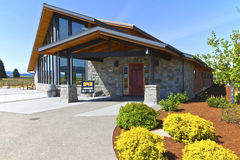 Mt Hood winery wine tasting building. Stock Photography