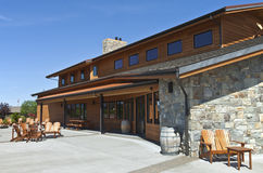 Mt Hood winery wine tasting building. Stock Image